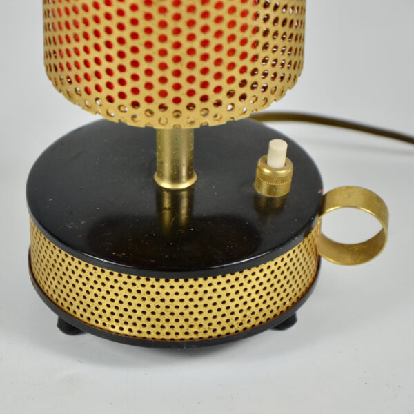 Teleambiance perforated lamp Matthieu Mategot 1960 French mid century light