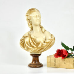 Wax bust of Madame du Barry c1900 French Belle Epoque