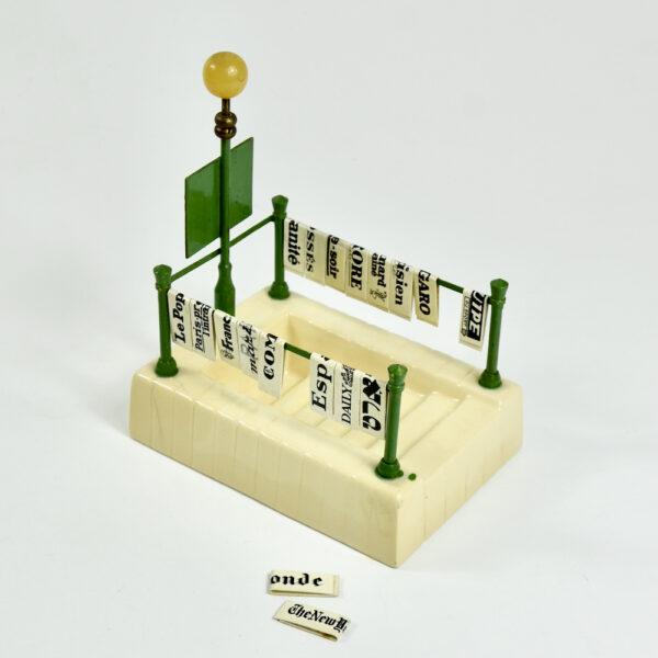 miniature Paris Metro newsstand aperitif set french vintage barware bar accessory 1940s 5