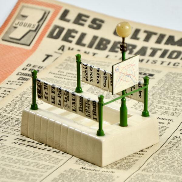 miniature Paris Metro newsstand aperitif set french vintage barware bar accessory 1940s