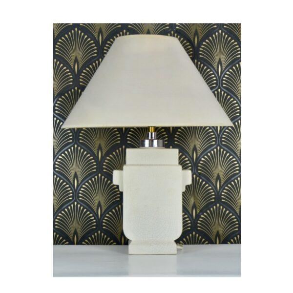 Art Deco craquele lamp 1930s Royal Nimy faience Belgium