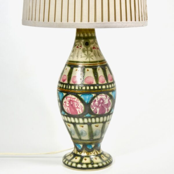 Keraluc Quimper Art Pottery Lamp by André L'Helguen mid century french lamp stoneware pottery 1970 (1)