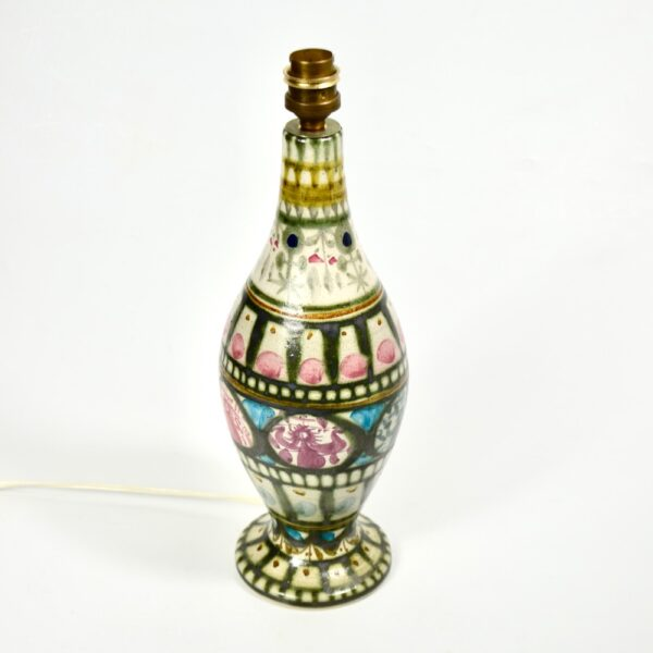 Keraluc Quimper Art Pottery Lamp by André L'Helguen mid century french lamp stoneware pottery 1970 (2)