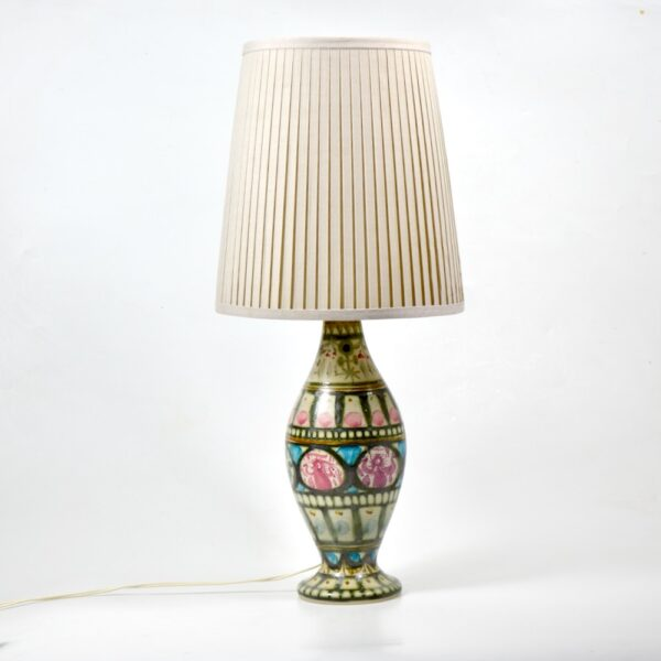 Keraluc Quimper Art Pottery Lamp by André L'Helguen mid century french lamp stoneware pottery 1970