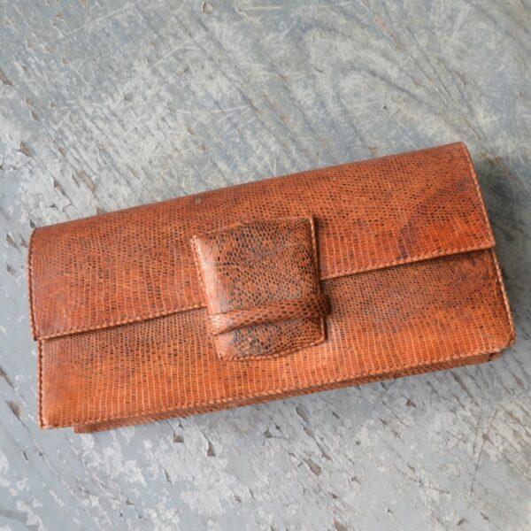 vintage 1970s snakeskin clutch bag purse (1)