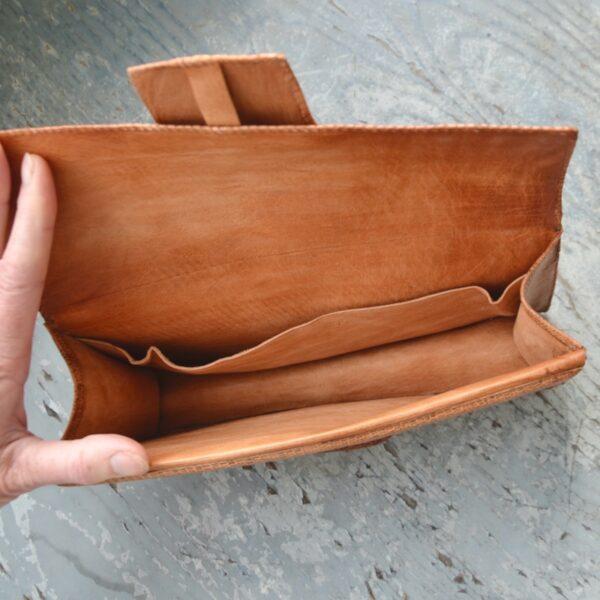 vintage 1970s snakeskin clutch bag purse (4)